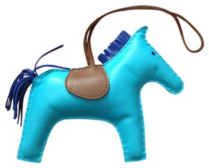 Hermès Hermes #C0917R Limited Hermes Rodeo Horse Charm GM 2016 Bleu Aztec Electric Perfect for Kelly and Birkin bags