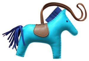 Hermès Hermes #C0920R Limited Hermes Rodeo Horse Charm MM 2016 Bleu Aztec Electric Perfect for Kelly and Birkin bags