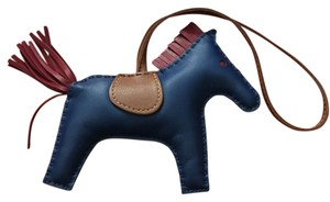 Hermès Hermes #C0921R Limited Hermes Rodeo Horse Charm MM 2016 Bleu Malte/Burgundy Perfect for Kelly and Birkin bags