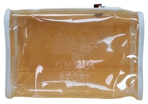 Gucci 100% Authentic Gucci Cosmetic Bag... Clear with white and red accents