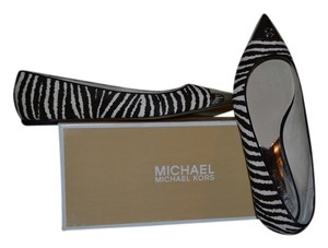 Michael Kors Brown/White Flats