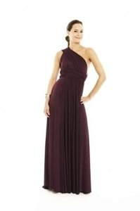 Twobirds Aubergine (egg Plant) Two Birds Classic Ball Gown Dress