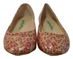 Louis Vuitton Cream/Pink Flats