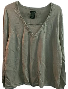 East 5th Essentials Flashy Ornate Blouse Top Gold