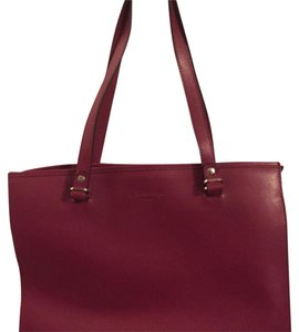 L.K. Bennett Tote in Deep Red
