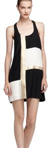 Alice & Trixie short dress Black, Gold & White on Tradesy