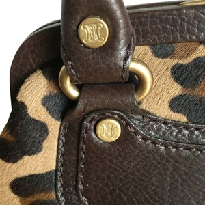 Céline Baguette Calf Hair Sale Satchel in Leopard Print Tan & Brown