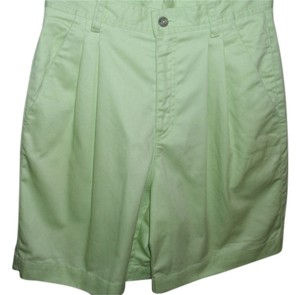Liz Claiborne Pastel Walking Long Golf Bermuda Shorts green