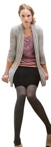Halogen Skirt Black multi speckled skirt, lilac tank top & grey sweater