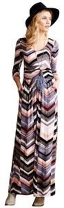 Chevron Maxi Dress by Maeve