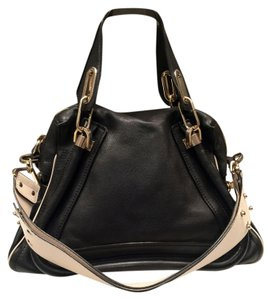 Chloé Chloe' Partay Satchel in Black/Bone