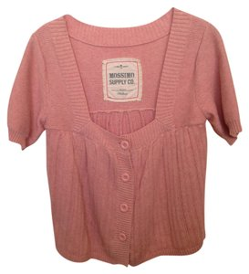 Mossimo Babydoll Style Flowy Pink Cotton Cardigan
