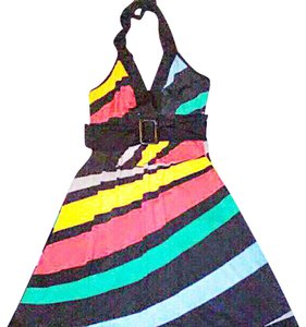 Wet Seal short dress Multi. Colorful Polyester Spandex Mix Halter on Tradesy