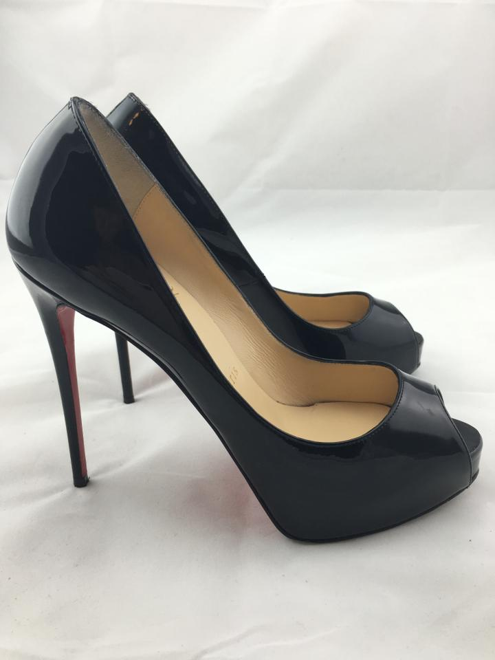 buy popular 2ca25 4dd9d Christian Louboutin Black New Very Prive Patent Red Sole Pumps Size US 6.5  Regular (M, B) 42% off retail