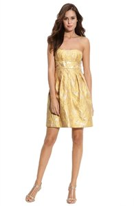 BCBGMAXAZRIA Empire Waist Sheath Metallic Dress