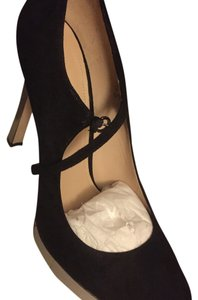Joan & David Black suede Platforms