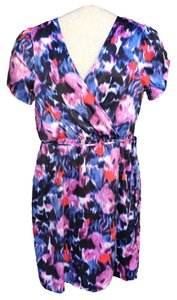 Banana Republic short dress Multicolored Abstract Floral Draped on Tradesy