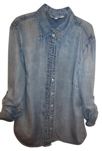 Boston Proper Button Down Shirt Blue Jean