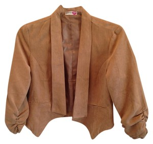 Body Central Suade Hi Lo Chic Camel Jacket