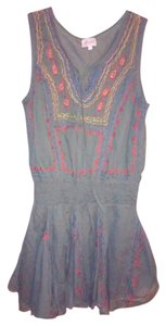 Soho Chick short dress Green Tank Embroidered on Tradesy