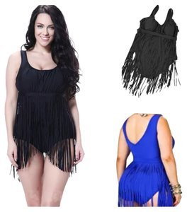 Other SUMMER SALE New Black Sexy Plus Size One Piece Fringe Bathing Suit