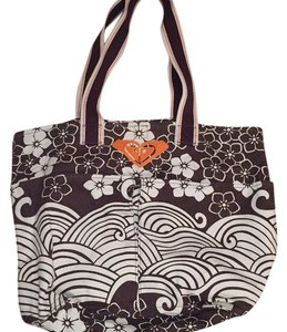 Roxy Tote in Brown/White/Orange
