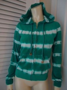 Juicy Couture Boho Tie Dyed Terrie Cloth Sweat Jacket Sweet Sweatshirt