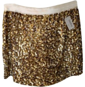 Alice + Olivia Mini Skirt Gold