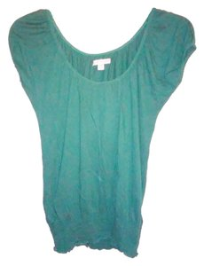 American Eagle Outfitters Scoop Neck Cotton Top Green