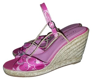 Coach Madison Monogram Swarovski pink Wedges
