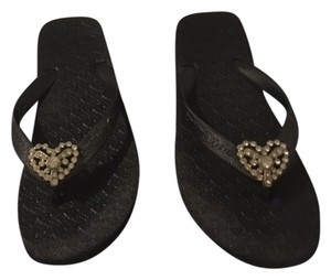 Twisted Heart Studs black Sandals