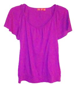 Elle Scoop Neck Cotton Top Pink