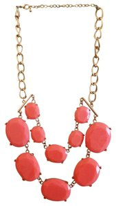 Pink & Gold Statement Bib Necklace
