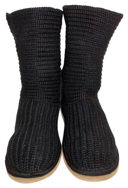 Item - Black Classic Crochet Cardy S/N 5857 Boots/Booties Size US 6 Narrow (Aa, N)