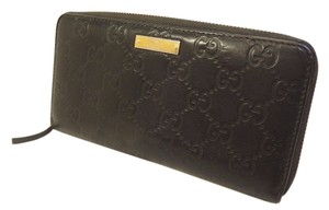 Gucci [Authentic] GUCCI Long Wallet Black GG pattern Leather