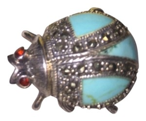 Other Turquoise And Marcasite Pin