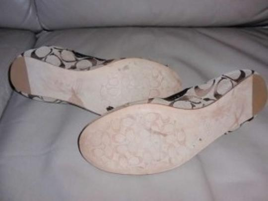 Coach Jilly Signature Ballet Patent Leather Accent Logo Multicolored brown Flats