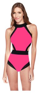 SUMMER CLEARANCE LAST CHANCE New Pink & Black Trim Monokini