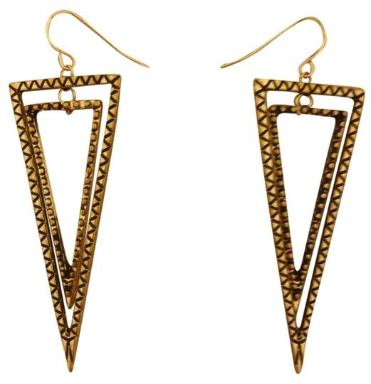 none Gold Triangle Drop Earrings