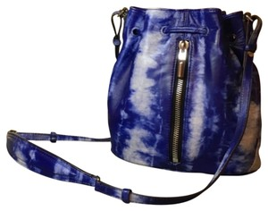 Elizabeth and James Tie Dye Lambskin Drawstring Bucket Shoulder Bag