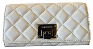 Michael Kors Wristlet in Optic White