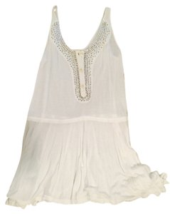 Free People short dress White Sequin on Tradesy