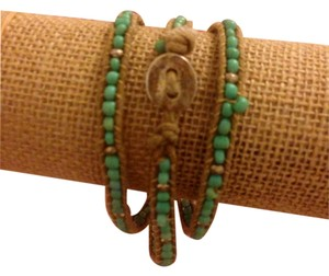 Other Wrap Rope Bracelet With Turquoise Beads (Size Adjustable)