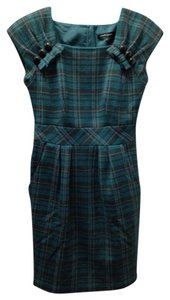 Nanette Lepore short dress Black and green Wool Classic Warm on Tradesy