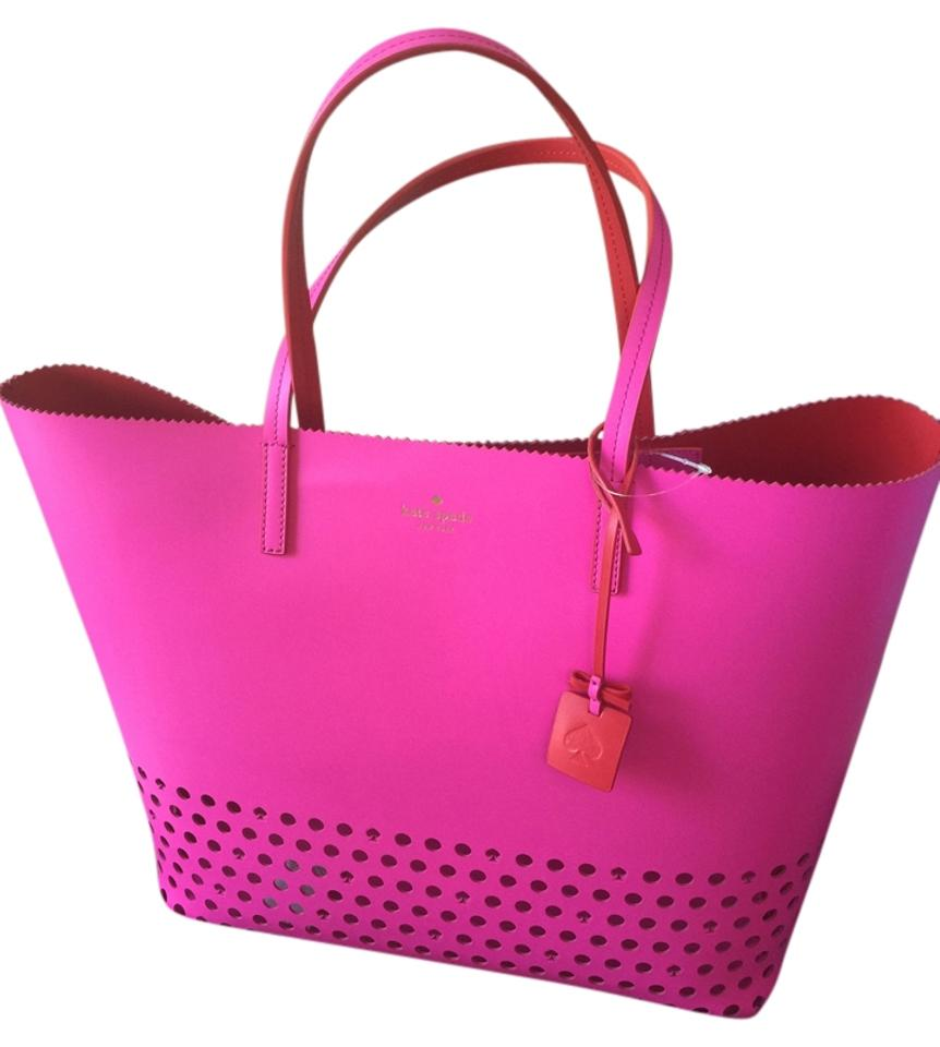 Kate Spade Brand New Len Ivy Drive Perf Leather Tote Beach