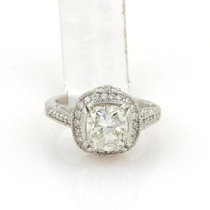 Cushion Cut 2.51ct Brilliant Diamond 18k White Gold Ring Wegl Certificate