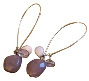 Other purple stones wire earrings