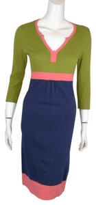 Boden Cashmere Silk Colorblock Knit Dress