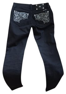 Miss Me Upscale Look Embellished Pockets Country Western Petite Boot Cut Jeans-Medium Wash