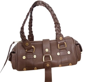 ALEXISUOSPNY Leather Satchel in BROWN
